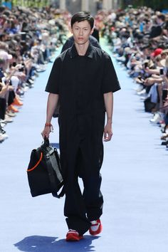 d3007cfc874a Look from the Men s Spring-Summer 2019 Fashion Show by Louis Vuitton s new  men s artistic