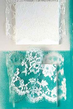 Cheapest DIY project ever? Possibly! Pick up some single tiles and spray paint, use a scrap of lace as a stencil, and voila! A batch of casually-cool lace coasters.