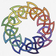 Celtic Doughnut Circle Knot Tattoo Design