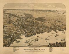 Birds eye view of Jacksonville, Fla.