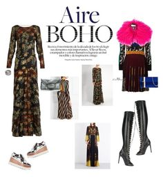 """""""Aire boho by etro"""" by krisz-kn ❤ liked on Polyvore featuring Etro, STELLA McCARTNEY, Giambattista Valli and Tomasini"""
