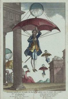 """""""New invention for descending from the top of a building without the aid of a staircase"""", 1780 from @Libroantiguo"""