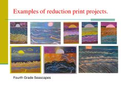 Reduction printmaking: wonderful PowerPoint with step by step directions