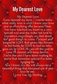 examples of love letters