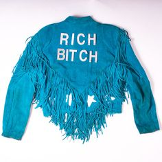 Rich Bitch Fringed Jacket