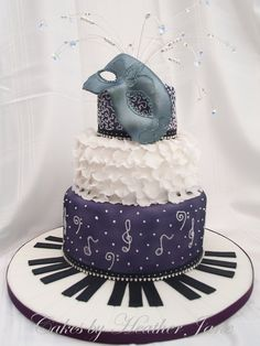 Musical Masquerade cake for my daughter's 12th birthday