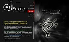 Dicas para seu o cigarros eletrônico?  Qismoke Cigarros Eletronicos, via Behance  www.qismoke.com