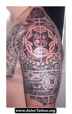 Aztec Tattoos On Shoulder 04 - http://aztectattoo.org/aztec-tattoos-on-shoulder-04/