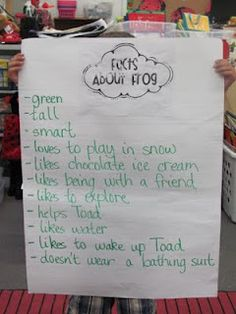 "Frog and Toad  facts about frog and toad  prompt ""Who are you more like?""  http://firstgradealacarte.blogspot.com/2011/04/frog-or-toad.html"