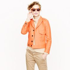Orange is not my colour, but I love the style of this jacket, looks great with all kinds of trouser silhouettes, and with skirts too.