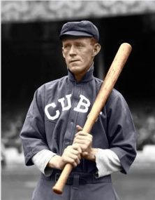 THEN TO CHANCE: Johnny Evers, Chicago Cubs, 2B, (1902-1913)  - one of several on this board