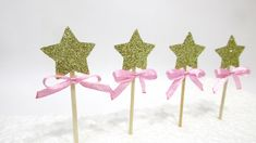 Children's Party Decorations – 12 Star Cupcake Toppers. Food Picks – a unique product by MagicalStart on DaWanda