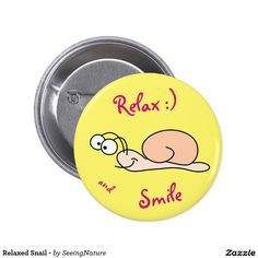 Relaxed Snail - Button