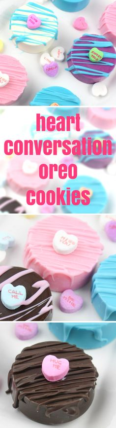 Valentine's Day Conversation Heart Oreo Cookie Dessert Recipe | Mom Spark - A Trendy Blog for Moms - Mom Blogger