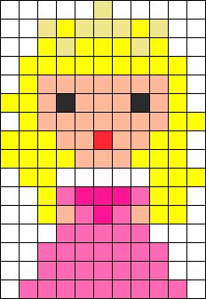 Aurora Perler Bead Pattern / Bead Sprite