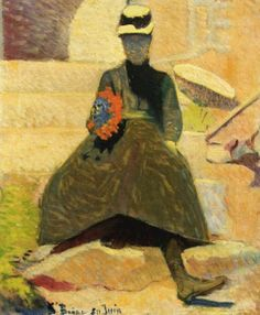 Émile Bernard (1868-1941) - Woman at Saint-Briac, 1886