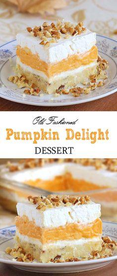Pumpkin Delight Dessert - so creamy that you won't resist it after a single bite.