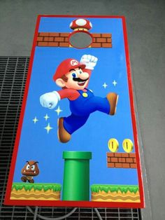 Super Mario Cornhole hole board. Wraps by Fireblade Graphics and Signs. Like us on Facebook to see all our wraps, decals and mx / atv graphics. Your number one source for all your graphics needs.