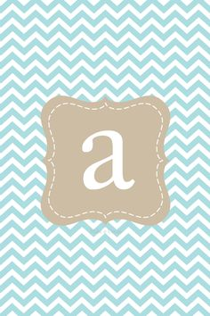 Make it...Create--Printables & Backgrounds/Wallpapers: iPhone Chevron Initial Lock Screens