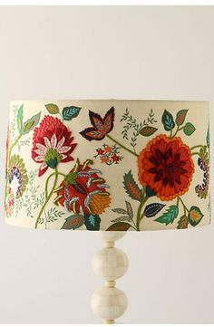 Anthropologie Needlework Garden Lampshade: http://www.stylemepretty.com/living/2016/04/04/spring-floral-home-decor/