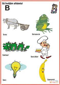 Romanian Language, Kids Education, Alphabet, Homeschool, Logos, Crafts, Printables, Language, Bebe