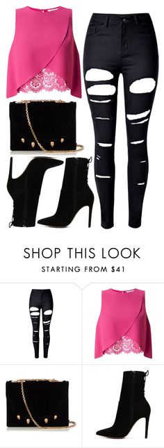"""""""1242."""" by asoul4 ❤ liked on Polyvore featuring WithChic, Miss Selfridge, Marco de Vincenzo and ALDO"""