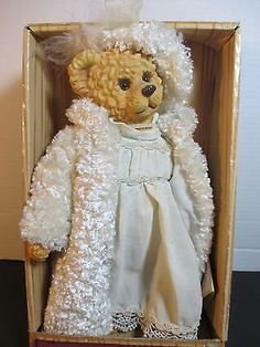 100th Teddy Bear Anniversary Bride Ceramic Bear Limited Edition In Box