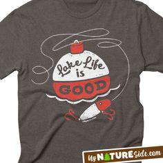 Lake Life Fishing Girl Living Guy Retro Vintage Lure Camping Apparel TShirt Sweatshirt Hoodie Tank (www.MyNatureSide.coM)