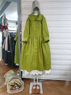 올리브의 린넨스토리 : 카카오스토리 Frock Fashion, Fashion Now, Japan Fashion, Modest Fashion, Hijab Fashion, Fashion Dresses, Spring Dresses Casual, Modest Dresses, Simple Dresses