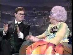 Elton John and Dame Edna