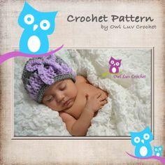 Celeste Hat Pattern NewbornAdult Sizes by OwlLuvCrochet on Etsy, $5.00