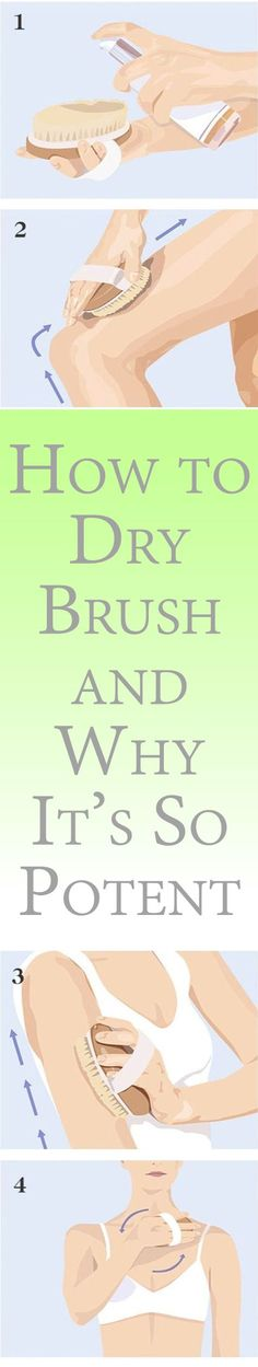 If the lymphatic system is congested, it can lead to a build-up of toxins, causing inflammation and illness. Dry brushing stimulates the lymphatic system as it stimulates and invigorates the skin.
