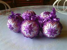 Vianočné gule fialové