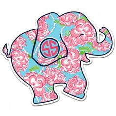 Elephant Roses Decal