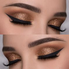 pretty copper cut crease eye makeup by denitslava