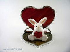 Little Love Bunny with Glass Heart (heart by Phoenix Glass)