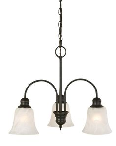 Design House 519330 Ridgeway Oil Rubbed Bronze 3-Light Chandelier