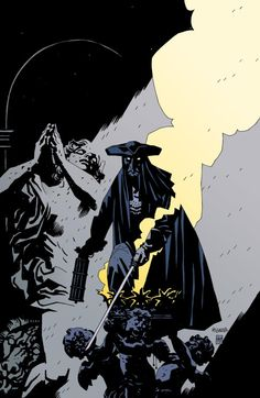 """omercifulheaves: """" The Marquis: Danse Macabre Art by Mike Mignola """""""