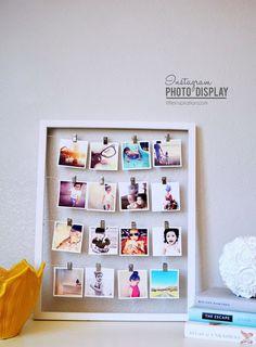 Cadeau DIY : un cadre photo spécial Polaroid© - DIY Ideen Diy Photo, Photowall Ideas, Diy Room Decor, Wall Decor, Bedroom Decor, Exposition Photo, Photo Displays, Diy Projects To Try, Diy Gifts