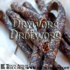 How to make Droë Wors / Dry Wors at home. An easy recipe for this delicious South African snack! Similar to European dried sausage but with African spices. Dried Sausage Recipe, Homemade Sausage Recipes, Homemade Seasonings, Authentic Mexican Recipes, Mexican Food Recipes, African Spices, Specialty Meats, Jerky Recipes, Dehydrator Recipes