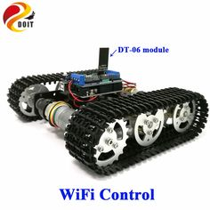 Official DOIT WiFi Control Smart Tank Car Chassis Crawler Tracked Robot Competition compatible with Arduino UNO Motor Drive DIY