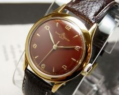 bb3a9228496 Vintage 1950s Baume Gold Plaque Mens Watch