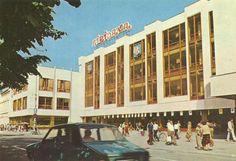 Postcard of Ziridava shopping center, Arad, year 1971 Shopping Center, Romania, Street View, Places, Painting, Art, Urban, Art Background, Shopping Mall