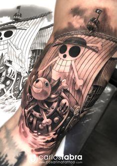 Cute Tattoos, Body Art Tattoos, Beach Theme Tattoos, Tatuagem One Piece, One Piece Tattoos, Comic Tattoo, Anime Tattoos, Beach Themes, Tatting