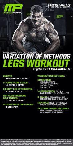 Variation of Methods Legs Workout