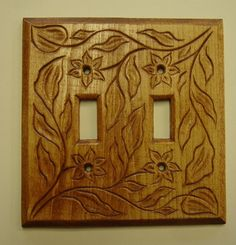 Double light switch cover plate