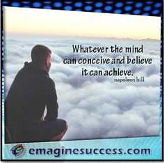 Thoughts are things. If you can imagine it, you can make it happen. #napoleonhill #bartism http://emaginesuccess.com