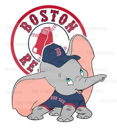 Dumbo+Inspired+Boston+Red+Sox++DIGITAL+FILE++by+TinyTeammates,+$5.00