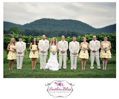 They Yellow is a little pale for my taste but I do like the simple pose for a large bridal party