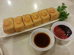 Fried tofu with shrimp